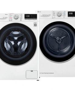 LG GC3V508S1 TurboWash 59 + LG RC80V9AV4Q - Wasmachinedeal - laagste prijs