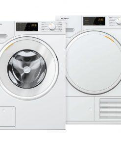 Miele WSD 123 WCS + Miele TSD 443 WP EcoSpeed - Wasmachinedeal - laagste prijs