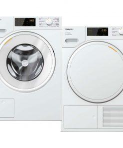 Miele WSD 323 WCS PowerWash 2.0 + Miele TSD 443 WP EcoSpeed - Wasmachinedeal - laagste prijs